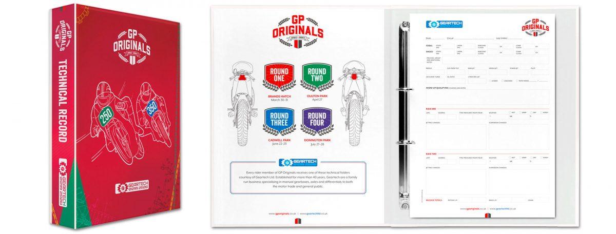 Geartech GP Originals racing spec folders
