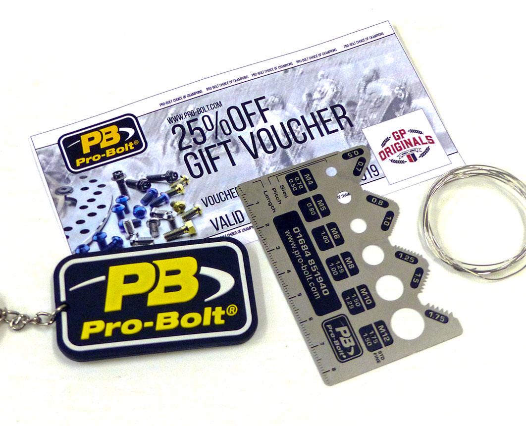 GP Originals prizes from Pro-Bolt UK