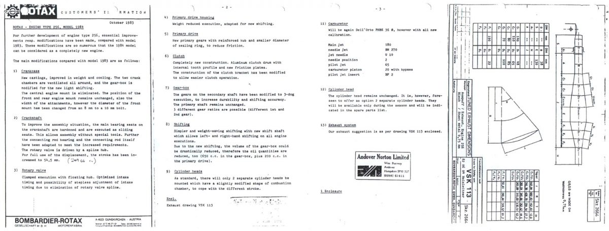 GP Originals research Rotax data sheets 1984