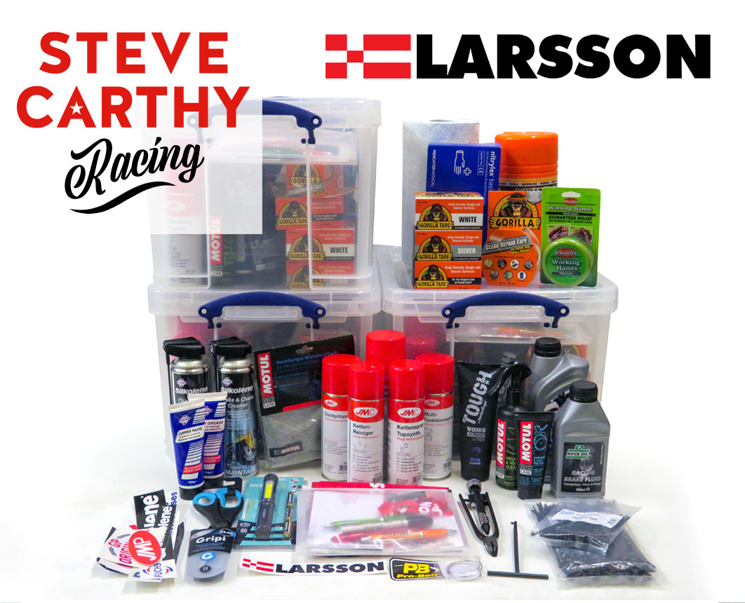 Steve Carthy Racing with Larsson racing product prize