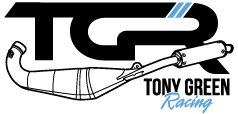 Tony Green Racing make hand crafted two-stroke exhausts and support GP Originals
