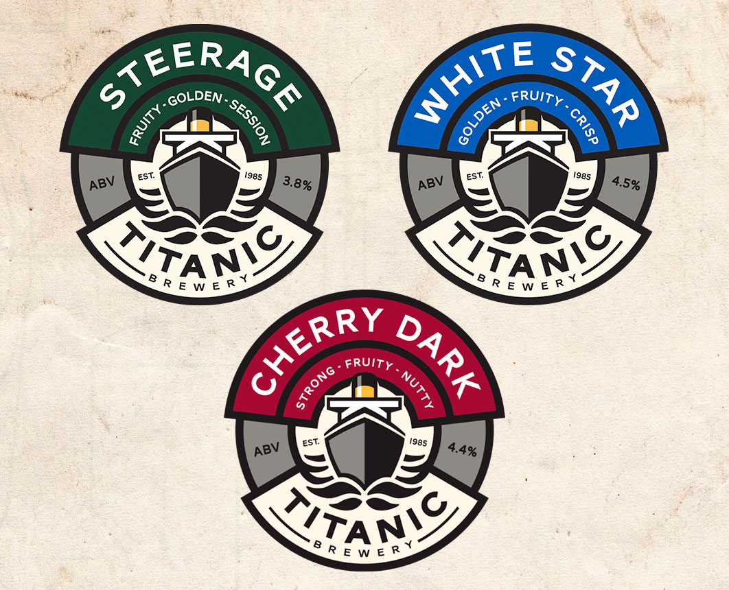 Titanic Brewery: Steerage, White Star and Cherry Dark at GP Originals