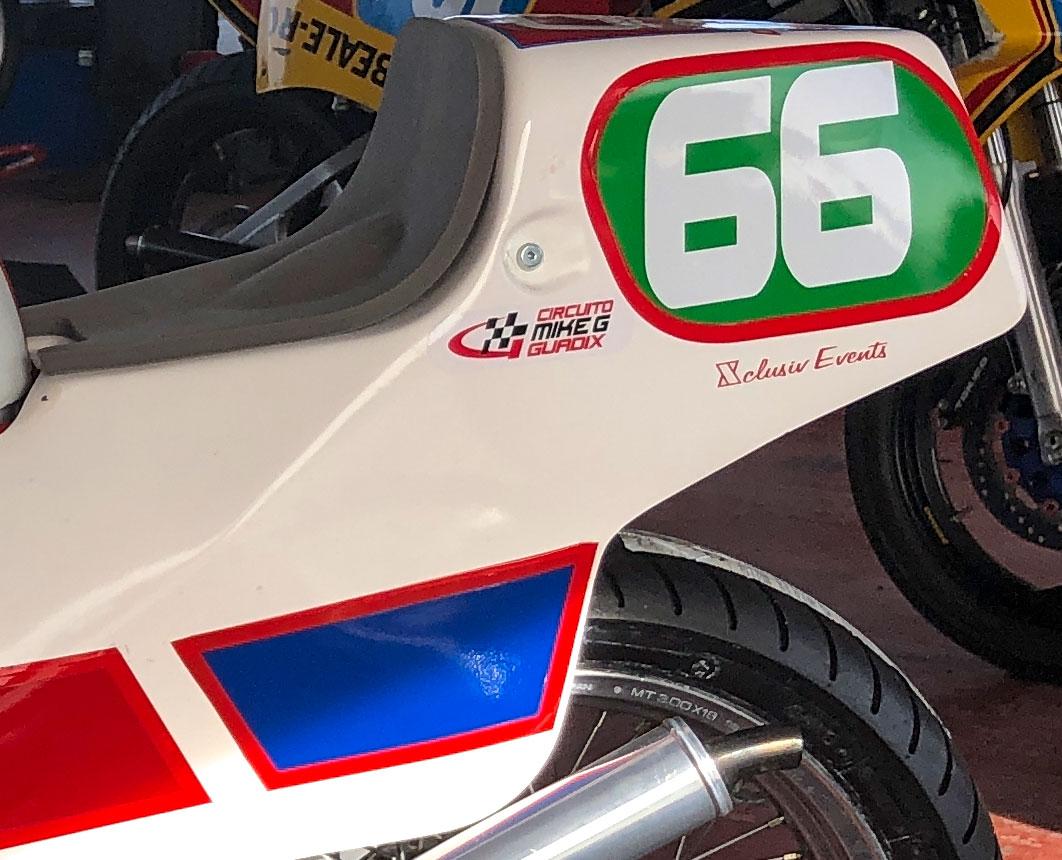 Xclusiv Group TZ250L raced at GP Originals post classic racing