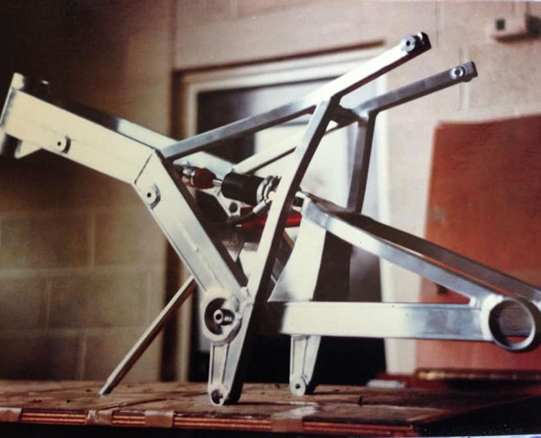 GP Originals early 80s Metmachex swingarm