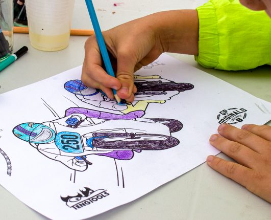 Daniel Bedford at the GP Originals Teng Tools colouring in competition