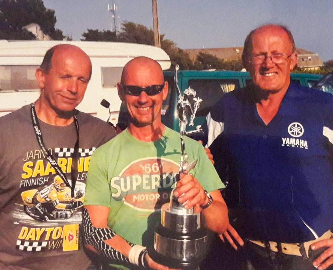 GP Originals supporters CBG with Harrison, Palmer and Brew