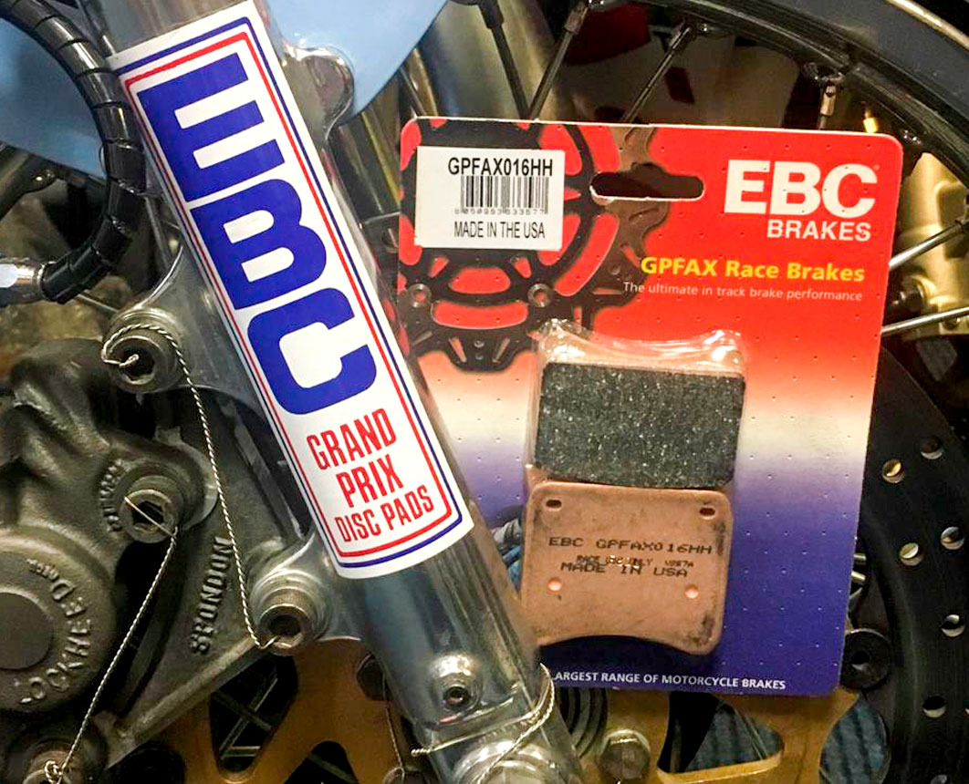 EBC race pads for TZ25 and TZ350