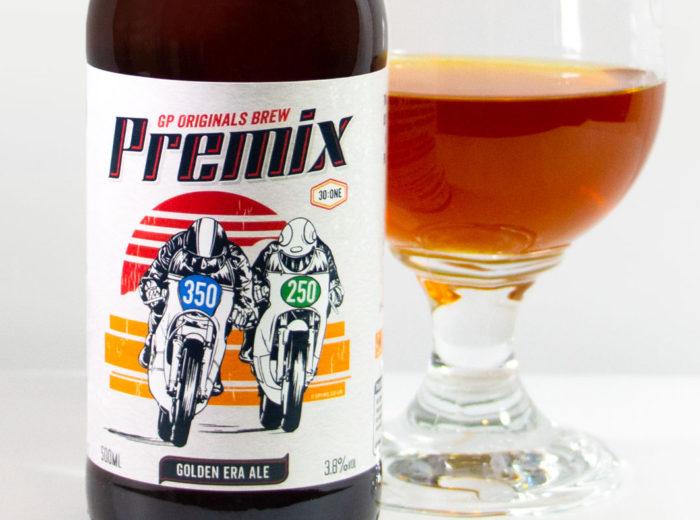 Premix two-stroke beer for GP Originals by Crankshaft Brewery