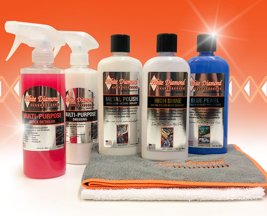 White Diamond detailing products support GP Originals classic racing